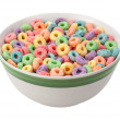 Multicolored Fruit Cereal isolated — Stock Photo #38343183