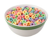 Multicolored Fruit Cereal isolated — Stock Photo