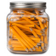 Golf Pencils in a Jar isolated — Stock Photo
