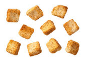 Croutons isolated — Stock Photo