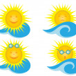 Solar vector icons — Stock Vector