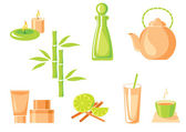 Vector set of spa asian icons — Wektor stockowy