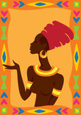 Vector illustration of   African Woman — Stock Vector