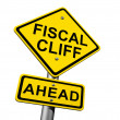 Stock Photo: Fiscal Cliff Ahead