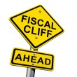Fiscal Cliff Ahead — 图库照片