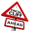 Fiscal Cliff Ahead Warning - ストック写真