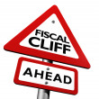 Fiscal Cliff Ahead Warning - Stock Photo