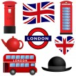 Travel Icons - London and UK - Stock Vector