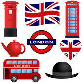 Travel Icons - London and UK — Stock Vector