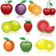 Stock Vector: Fruit Icons