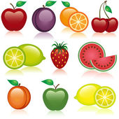 Fruit Icons — Stock Vector