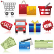 Shopping and Business Icons — Vettoriale Stock #26819859