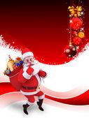 サンタ クロースと贈り物の多く — ストック写真