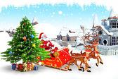 Santa claus on iceland — Stock Photo