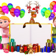 Kids with lots of gifts — Stock Photo