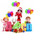 Kids with lots of gifts — Stock Photo #13700956