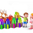 Kids with lots of gifts — Stock Photo #13701414