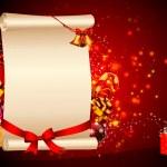 Christmas big sign with santa and kids — Stock Photo #13701743