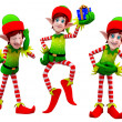 Happy playing elves — Stock Photo