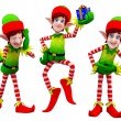 Stock Photo: Happy playing elves
