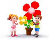 Happy cute enjoying kids — Stock Photo