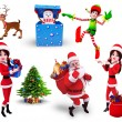 Illustration of christmas characters — Stock Photo