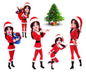 Illustration of christmas characters — Stok fotoğraf