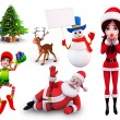 Stock Photo: Illustration of christmas characters