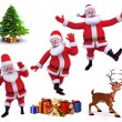 Happy jumping santa claus — Stock Photo #35110761