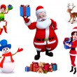 Illustration of christmas characters — Stock Photo #35226441