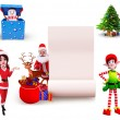 Illustration of christmas characters — Stock Photo #35226503