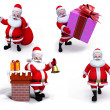 Stock Photo: Illustration of santclaus