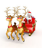 Santa claus with his sleigh — Stock Photo