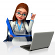 Doctor with computer — Stock Photo