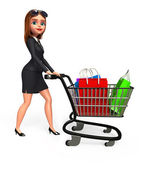 Business woman with shopping — Stok fotoğraf