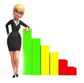 Donna d'affari con grafico — Foto Stock