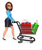 Business woman with shopping — Stock Photo