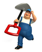 Mechanic with hammer and wrench — Foto de Stock