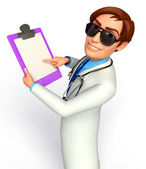 Doctor with writing pad — Stock Photo