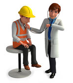 Doctor check up a patient — Stock Photo