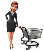 Illustration of Office girl — Stock Photo