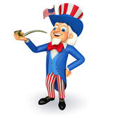 Uncle sam with cigarette pipe — Stock Photo
