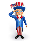 Uncle sam illustration — Stock Photo