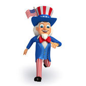 Uncle sam is running — Stock Photo