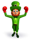 Leprechaun with boxing gloves — Foto Stock