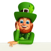Leprechaun  with signs for patricks day — 图库照片