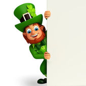 Leprechaun with signs — Foto de Stock