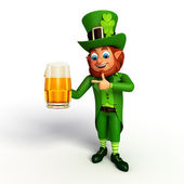 Leprechaun with beer glass — Foto Stock