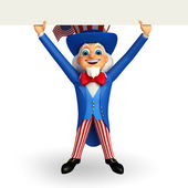Uncle sam with big sign — Foto Stock