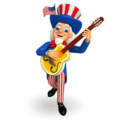 Uncle sam with Guitar — Stock Photo